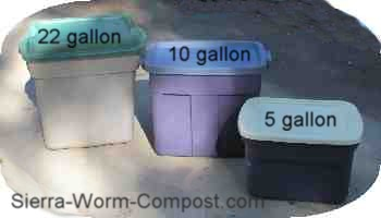 plastic bins for worm composting