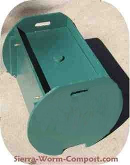 wooden worm compost bin